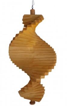 Windspiel aus Holz - Windspirale - Holzspirale, Länge 35 cm - Lasiert, Farbton Eiche