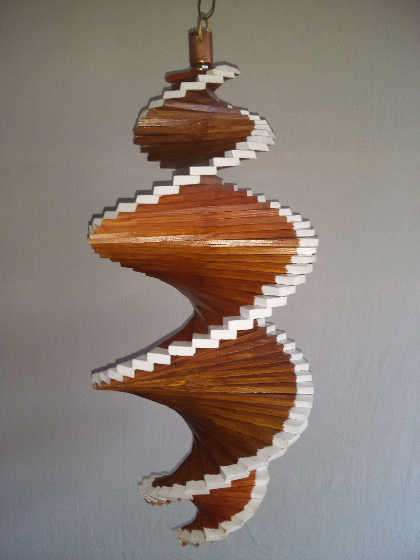 windspiel aus holz windspirale holzspirale l nge 55 cm lackiert teak nu baum beide. Black Bedroom Furniture Sets. Home Design Ideas