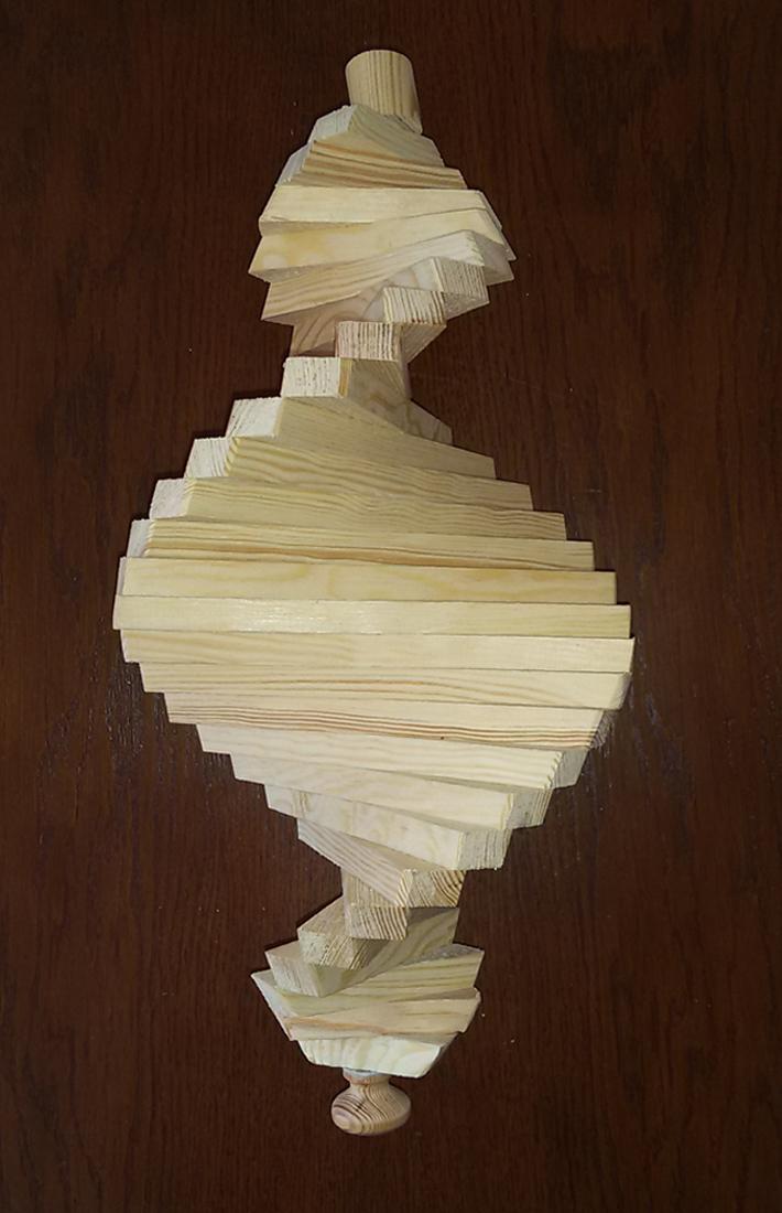 windspiel aus holz windspirale holzspirale l nge 45 cm unbehandelt ws 45 na. Black Bedroom Furniture Sets. Home Design Ideas