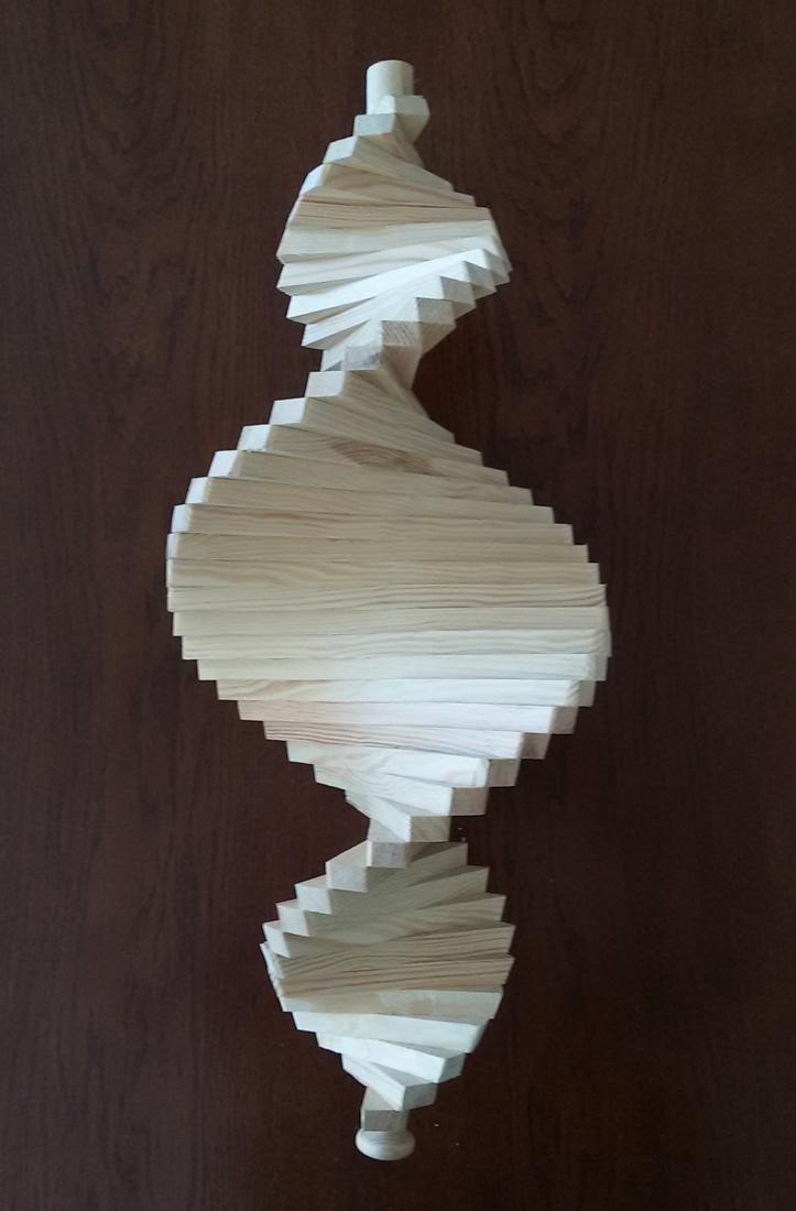 windspiel aus holz windspirale holzspirale l nge 65 cm unbehandelt ws 65 na. Black Bedroom Furniture Sets. Home Design Ideas