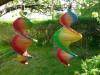 Windspiel aus Holz - Regenbogen-Windspirale - Holzspirale, Länge 55 cm - Regenbogenfarben
