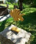 Holzfisch 21 cm, Lasur Kiefer, Dekoartikel, Aufstellfigur