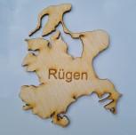 Kühlschrankmagnet Insel Rügen mit Schrift