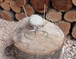 Deko-Figur Spinne 6, Edelstahl, Steinspinne,Dekorationsfigur, Steinfigur, Gartenfigur