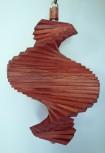 Windspiel aus Holz - Windspirale - Holzspirale, Länge 35 cm - Lasiert, Farbton Mahagoni