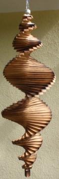 Windspiel aus Holz - Windspirale - Holzspirale, Länge 100 cm - Geflammt