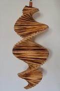 Windspiel aus Holz - Windspirale - Holzspirale, Länge 55 cm - Geflammt