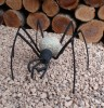 Deko-Figur Spinne , Stahl schwarz lackiert, Steinspinne,Dekorationsfigur, Steinfigur, Gartenfigur