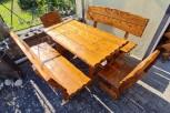 Sitzgruppe WITTOW, 5-teilig, Tisch 160 x 80 cm, 2 Bänke 160 cm, 2 Stühle 50 cm