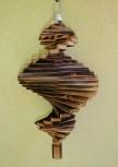 Wind Spinning Wood Spiral, Length 40 cm, Flamed