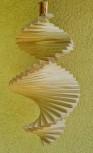 Windspiel aus Holz - Windspirale - Holzspirale, Länge 35 cm - Breite 19 cm, unbehandelt